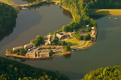 Aerial view of Cohutta Springs Conference Center