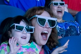 People with 3D glasses