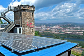Solar panels at Ruby Falls
