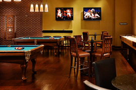 Bar and pool tables
